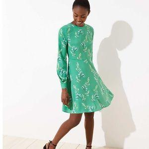 Long Sleeve LOFT Floral Mini Dress